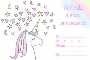 Diy carte d'anniversaire licorne